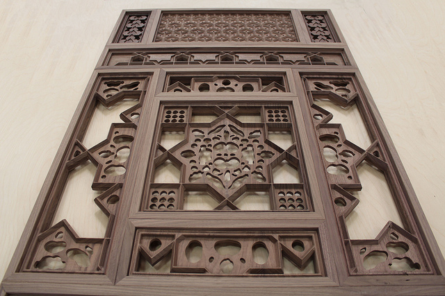 Artistic walnut panel